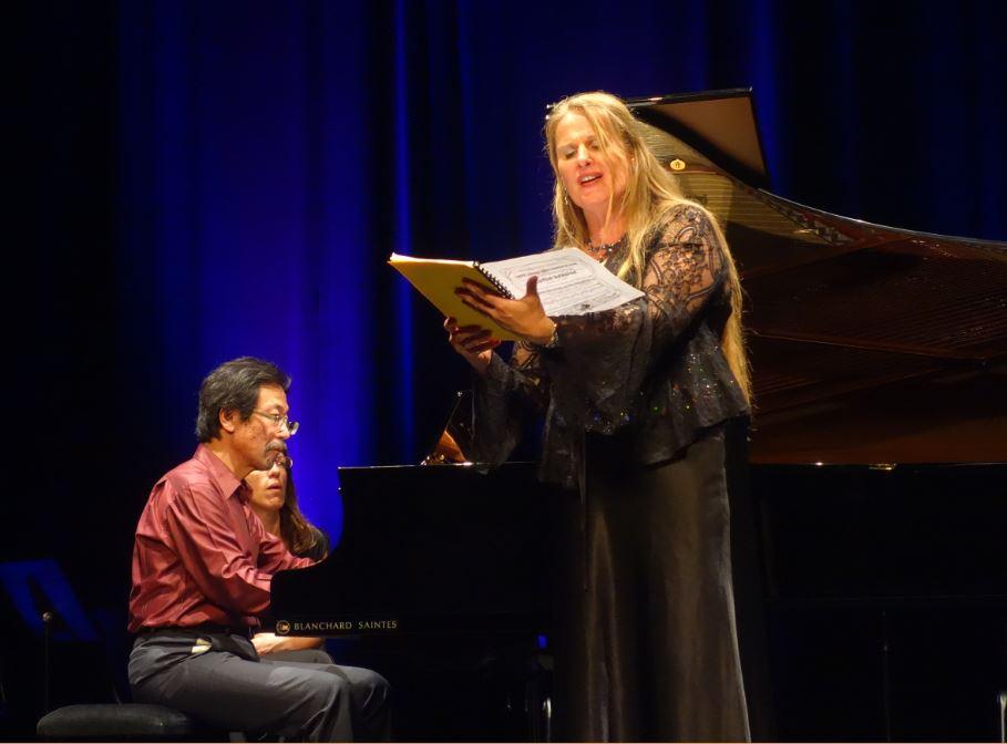 Festival d'Oléron 2017 Pianiste : Massanori Kobiki ; Soprano : Fabienne Cellier-Triguel ; Photo de Laurence Laporte